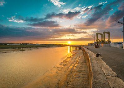Port d'Etaples - Crépuscule doré