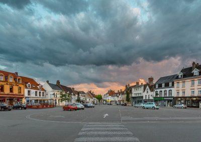 Etaples - La place après l'orage